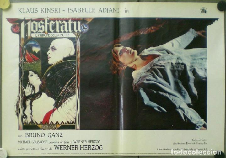 Cine: VE27D NOSFERATU VAMPIRO DE LA NOCHE KLAUS KINSKI WERNER HERZOG SET 8 POSTERS ORIG ITALIANOS 47X68 - Foto 6 - 183463797