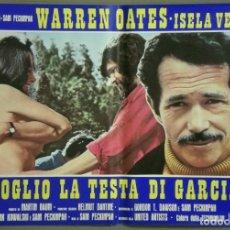 Cine: UF87D QUIERO LA CABEZA DE ALFREDO GARCIA SAM PECKINPAH ISELA VEGA SET 8 POSTERS ORIG ITALIANOS 47X68. Lote 183491331