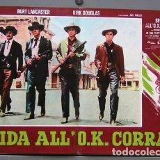Cine: SJ72D DUELO DE TITANES KIRK DOUGLAS BURT LANCASTER SET 8 POSTERS ORIGINALES ITALIANOS 47X68. Lote 183501806