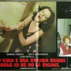 Cine: US80D VICIOS PROHIBIDOS GIALLO LESBIAN EDWIGE FENECH SERGIO MARTINO SET 6 POSTER ORIG ITALIANO 47X68. Lote 183507708