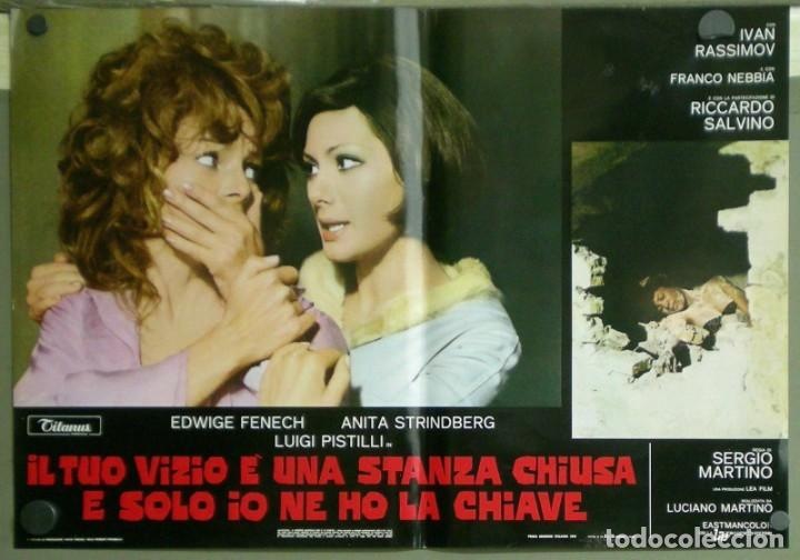 Cine: US80D VICIOS PROHIBIDOS GIALLO LESBIAN EDWIGE FENECH SERGIO MARTINO SET 6 POSTER ORIG ITALIANO 47X68 - Foto 2 - 183507708