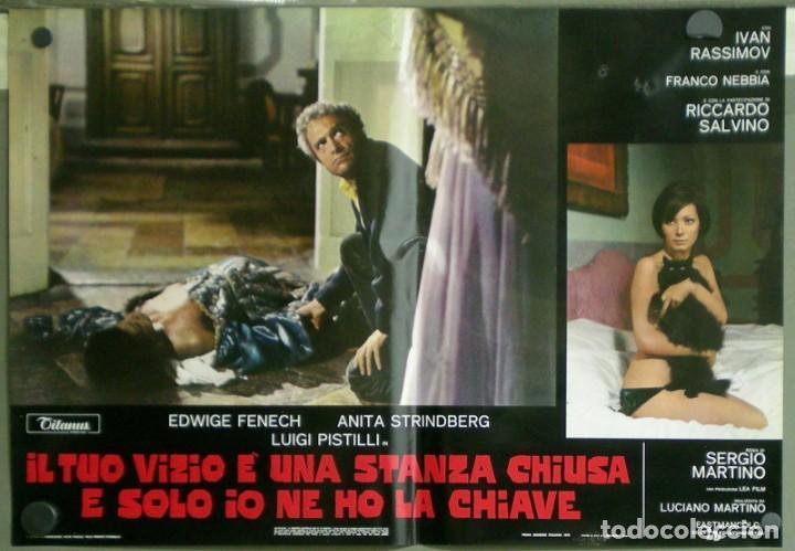 Cine: US80D VICIOS PROHIBIDOS GIALLO LESBIAN EDWIGE FENECH SERGIO MARTINO SET 6 POSTER ORIG ITALIANO 47X68 - Foto 4 - 183507708