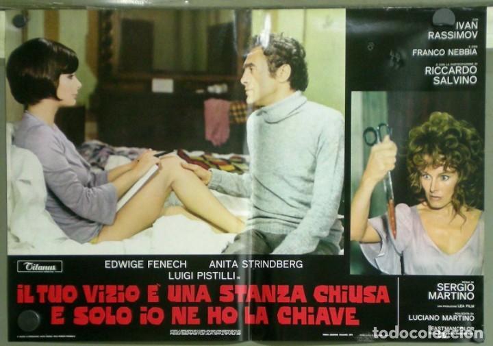 Cine: US80D VICIOS PROHIBIDOS GIALLO LESBIAN EDWIGE FENECH SERGIO MARTINO SET 6 POSTER ORIG ITALIANO 47X68 - Foto 5 - 183507708
