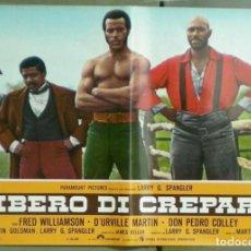 Cine: UU80D LA LEYENDA DE NIGGER CHARLEY FRED WILLIAMSON BLAXPLOITATION SET 8 POSTERS ORIG ITALIANOS 47X68. Lote 183520027