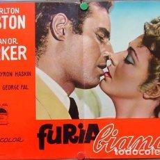 Cine: EW79D CUANDO RUGE LA MARABUNTA CHARLTON HESTON ELEANOR PARKER SET 6 POSTERS ORIG ITALIANOS 47X68. Lote 183524432