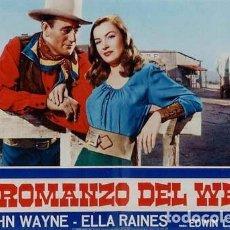 Cine: EQ54D EL Y SU ENEMIGA JOHN WAYNE ELLA RAINES SET 6 POSTERS ORIGINALES ITALIANOS 47X68. Lote 183525676