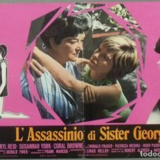 Cine: PX43D THE KILLING OF SISTER GEORGE SUSANNAH YORK SET 8 POSTERS ORIGINALES ITALIANOS 47X68. Lote 183526536