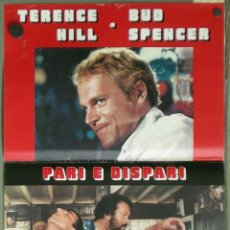 Cine: UR77D PAR IMPAR TERENCE HILL BUD SPENCER SET 8 POSTERS ORIGINALES ITALIANOS 47X68. Lote 183527477