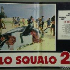 Cine: TW34D TIBURON 2 ROY SCHEIDER SET 8 POSTERS ORIGINALES ITALIANOS 47X68. Lote 183529621