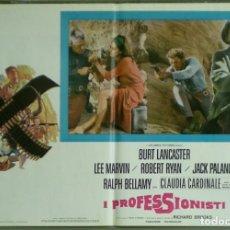 Cine: UR34D LOS PROFESIONALES BURT LANCASTER LEE MARVIN PALANCE SET 6 POSTERS ORIGINALES ITALIANOS 47X68. Lote 183529845