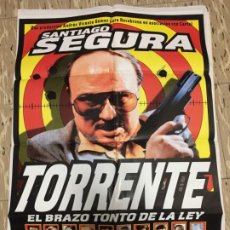 Cinema: CARTEL ORIGINAL CINE 70 X 100 CM APROX SANTIAGO SEGURA TORRENTE EL BRAZO TONTO DE LA LEY. Lote 183543293
