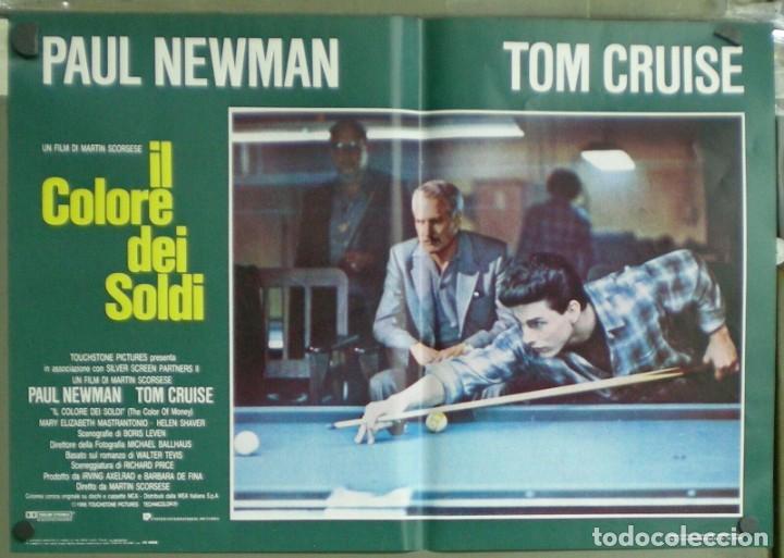 UU38D EL COLOR DEL DINERO PAUL NEWMAN TOM CRUISE SCORSESE BILLAR SET 8 POSTERS ORIG ITALIANOS 47X68 (Cine - Posters y Carteles - Deportes)