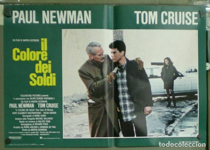 Cine: UU38D EL COLOR DEL DINERO PAUL NEWMAN TOM CRUISE SCORSESE BILLAR SET 8 POSTERS ORIG ITALIANOS 47X68 - Foto 3 - 183546568