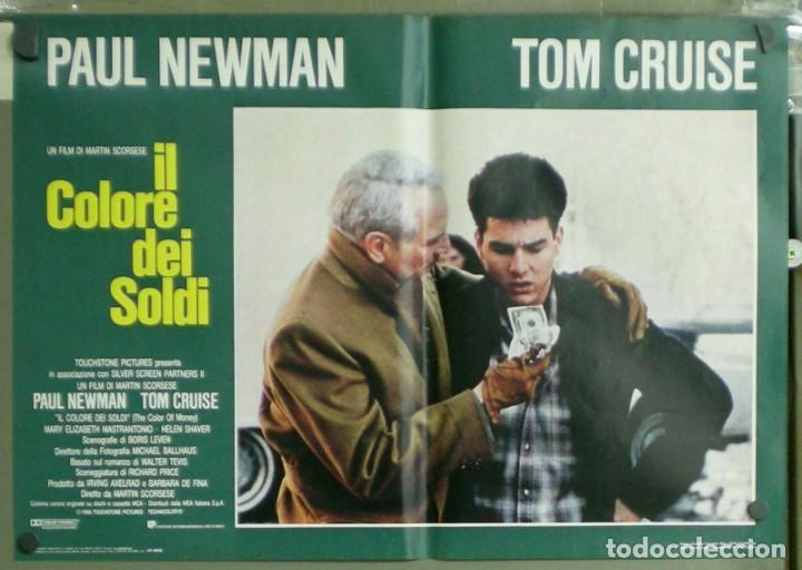 Cine: UU38D EL COLOR DEL DINERO PAUL NEWMAN TOM CRUISE SCORSESE BILLAR SET 8 POSTERS ORIG ITALIANOS 47X68 - Foto 4 - 183546568