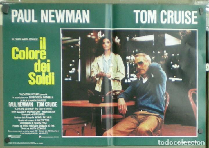 Cine: UU38D EL COLOR DEL DINERO PAUL NEWMAN TOM CRUISE SCORSESE BILLAR SET 8 POSTERS ORIG ITALIANOS 47X68 - Foto 6 - 183546568