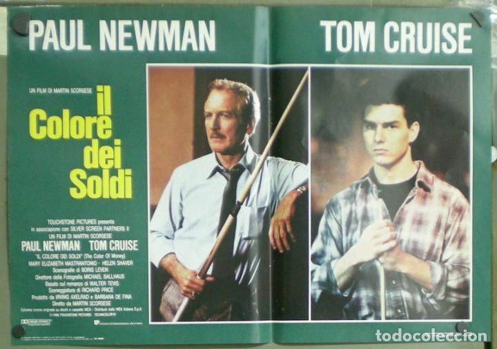 Cine: UU38D EL COLOR DEL DINERO PAUL NEWMAN TOM CRUISE SCORSESE BILLAR SET 8 POSTERS ORIG ITALIANOS 47X68 - Foto 8 - 183546568