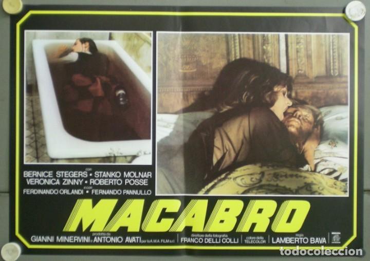 2UV04D MACABRO LAMBERTO BAVA SET 6 POSTERS ORIGINALES ITALIANOS 47X68 (Cine - Posters y Carteles - Terror)