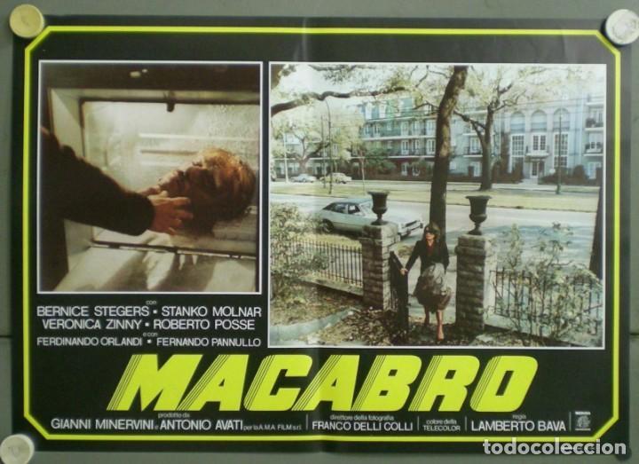 Cine: 2UV04D MACABRO LAMBERTO BAVA SET 6 POSTERS ORIGINALES ITALIANOS 47X68 - Foto 2 - 183546862