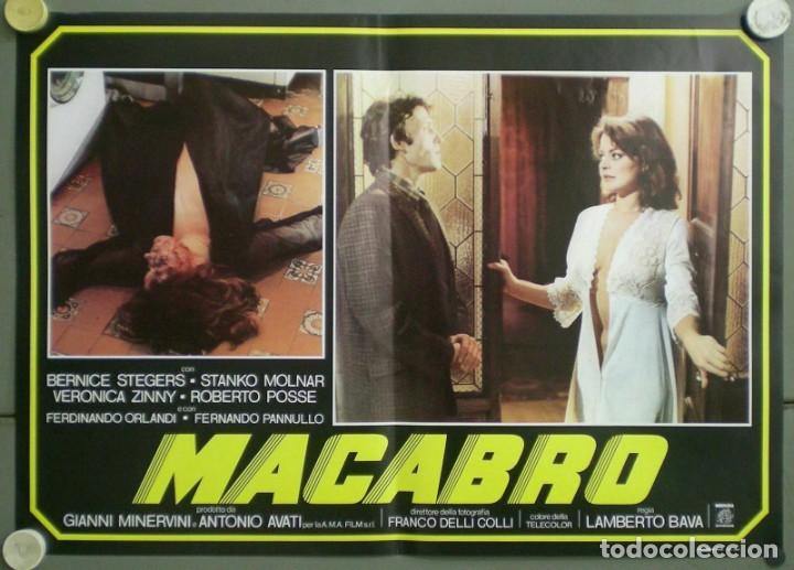 Cine: 2UV04D MACABRO LAMBERTO BAVA SET 6 POSTERS ORIGINALES ITALIANOS 47X68 - Foto 3 - 183546862