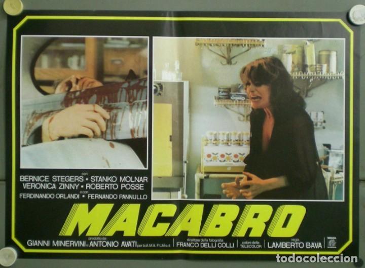 Cine: 2UV04D MACABRO LAMBERTO BAVA SET 6 POSTERS ORIGINALES ITALIANOS 47X68 - Foto 4 - 183546862