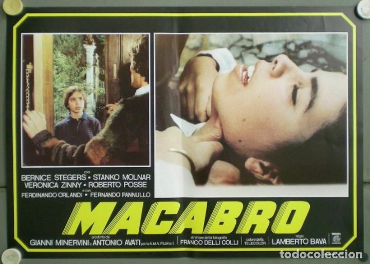 Cine: 2UV04D MACABRO LAMBERTO BAVA SET 6 POSTERS ORIGINALES ITALIANOS 47X68 - Foto 5 - 183546862