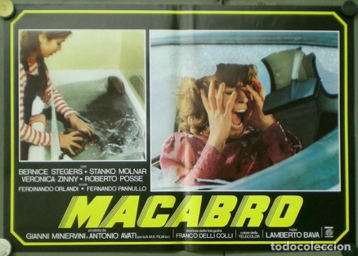 Cine: 2UV04D MACABRO LAMBERTO BAVA SET 6 POSTERS ORIGINALES ITALIANOS 47X68 - Foto 6 - 183546862