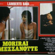 Cine: UD39D LAMBERTO BAVA GIALLO MORIRAI A MEZZANOTTE GIALLO SET 6 POSTERS ORIGINALES ITALIANOS 47X68. Lote 183555570