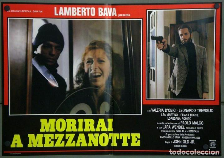 Cine: UD39D LAMBERTO BAVA GIALLO MORIRAI A MEZZANOTTE GIALLO SET 6 POSTERS ORIGINALES ITALIANOS 47X68 - Foto 2 - 183555570