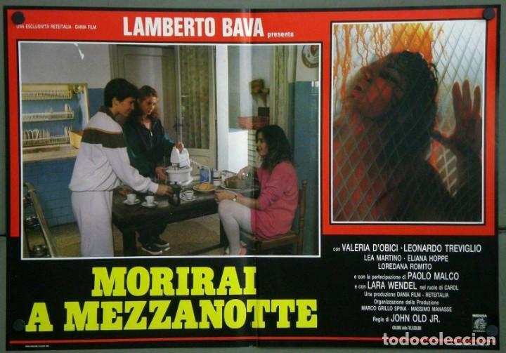 Cine: UD39D LAMBERTO BAVA GIALLO MORIRAI A MEZZANOTTE GIALLO SET 6 POSTERS ORIGINALES ITALIANOS 47X68 - Foto 3 - 183555570