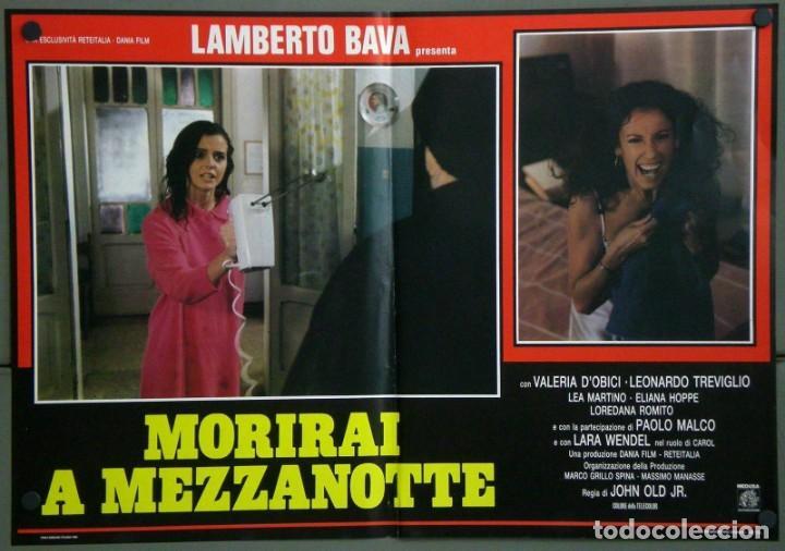Cine: UD39D LAMBERTO BAVA GIALLO MORIRAI A MEZZANOTTE GIALLO SET 6 POSTERS ORIGINALES ITALIANOS 47X68 - Foto 4 - 183555570