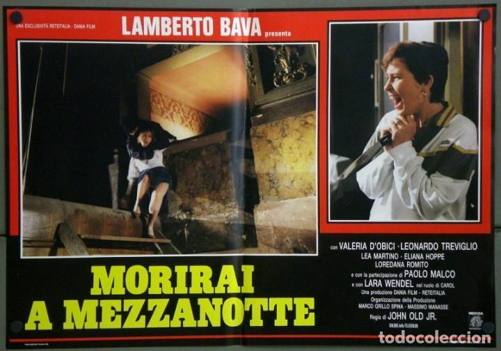 Cine: UD39D LAMBERTO BAVA GIALLO MORIRAI A MEZZANOTTE GIALLO SET 6 POSTERS ORIGINALES ITALIANOS 47X68 - Foto 5 - 183555570