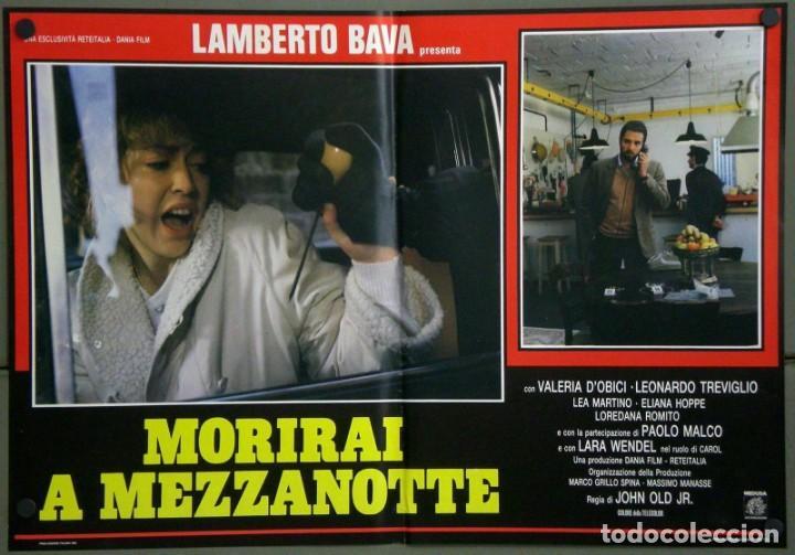 Cine: UD39D LAMBERTO BAVA GIALLO MORIRAI A MEZZANOTTE GIALLO SET 6 POSTERS ORIGINALES ITALIANOS 47X68 - Foto 6 - 183555570