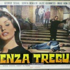 Cine: VD10D CONSPIRACION EN BERLIN SENTA BERGER GEORGE SEGAL SET 4 POSTERS ORIGINALES ITALIANOS 47X68. Lote 183556806