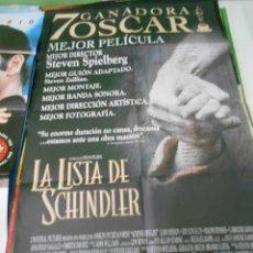 Cine: LA LISTA DE SCHINDLER CARTEL POSTER CINE ORIGINAL 70X100 CMS. Lote 289329878