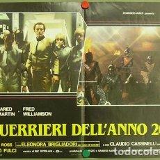 Cine: SW83D ROMA AÑO 2072 LOS GLADIADORES LUCIO FULCI GORE SET 6 POSTERS ORIGINALES ITALIANOS 47X68. Lote 183563438