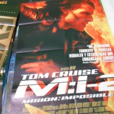 Cine: MISION IMPOSIBLE 2 TOM CRUISE CARTEL POSTER CINE ORIGINAL 70X100 CMS. Lote 266264068