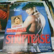 Cine: STRIPTEASE CARTEL POSTER CINE ORIGINAL 70X100 CMS. Lote 183566115