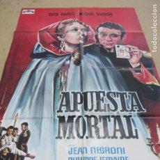 Cine: APUESTA MORTAL 100 X 70 CM. PEDIDO MÍNIMO 5 EUROS. Lote 183573410