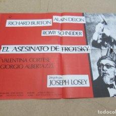 Cine: EL ASESINATO DE TROTSKY 48 X 70 CM. PEDIDO MÍNIMO 5 EUROS. Lote 183573656