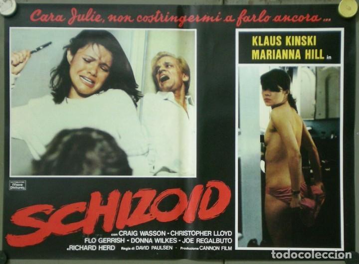 UR53D PSICOPATA KLAUS KINSKI DONNA WILKES MARIANA HILL SET 6 POSTERS ORIGINALES ITALIANOS 47X68 (Cine - Posters y Carteles - Terror)