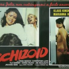 Cine: UR53D PSICOPATA KLAUS KINSKI DONNA WILKES MARIANA HILL SET 6 POSTERS ORIGINALES ITALIANOS 47X68. Lote 183584408