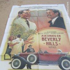Cine: ASESINATO EN BEVERLY HILLS 100 X 70 CM. PEDIDO MÍNIMO 5 EUROS. Lote 183585947