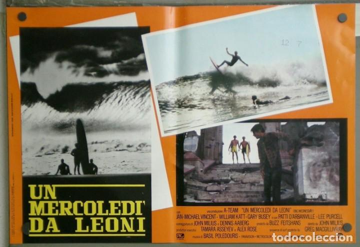 ZM73D EL GRAN MIERCOLES SURF JAN-MICHAEL VINCENT GARY BUSEY SET 4 POSTERS ORIGINALES ITALIANOS 47X68 (Cine - Posters y Carteles - Deportes)