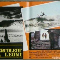 Cine: ZM73D EL GRAN MIERCOLES SURF JAN-MICHAEL VINCENT GARY BUSEY SET 4 POSTERS ORIGINALES ITALIANOS 47X68. Lote 183587422