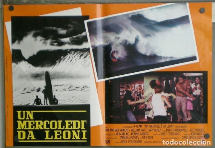 Cine: ZM73D EL GRAN MIERCOLES SURF JAN-MICHAEL VINCENT GARY BUSEY SET 4 POSTERS ORIGINALES ITALIANOS 47X68 - Foto 2 - 183587422