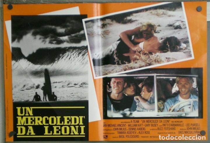 Cine: ZM73D EL GRAN MIERCOLES SURF JAN-MICHAEL VINCENT GARY BUSEY SET 4 POSTERS ORIGINALES ITALIANOS 47X68 - Foto 3 - 183587422