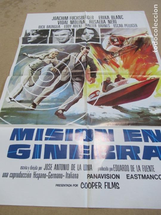 MISIÓN EN GINEBRA 100 X 70 CM. PEDIDO MÍNIMO 5 EUROS (Cine - Posters y Carteles - Suspense)