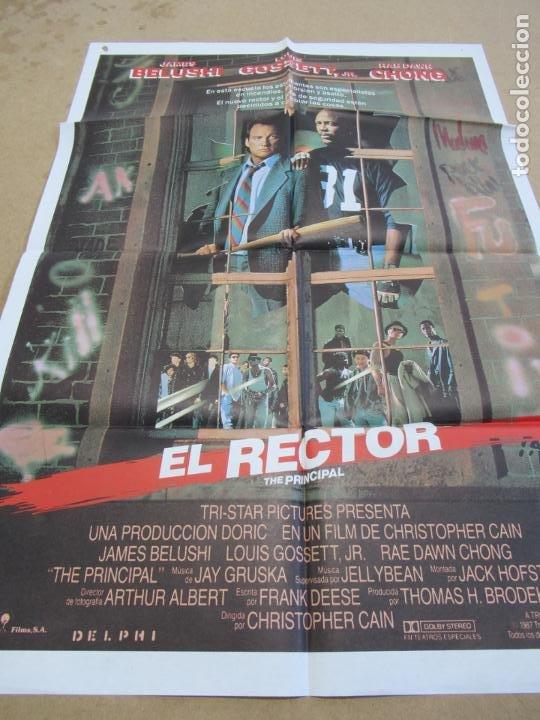 EL RECTOR 100 X 70 CM. PEDIDO MÍNIMO 5 EUROS (Cine - Posters y Carteles - Suspense)
