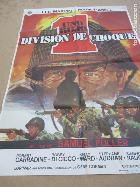 UNO ROJO DIVISIÓN DE CHOQUE 100 X 70 CM. PEDIDO MÍNIMO 5 EUROS (Cine - Posters y Carteles - Bélicas)