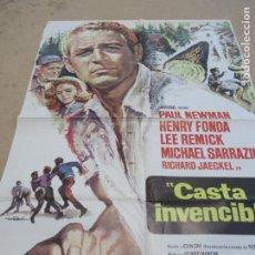 Cine: CASTA INVENCIBLE 100 X 70 CM. PEDIDO MÍNIMO 5 EUROS. Lote 183593231